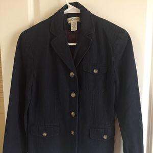 Ann Taylor Navy Linen Suit Jacket